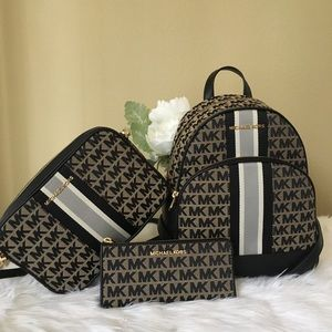 3PCS Michael Kors abbey backpack crossbody &wallet
